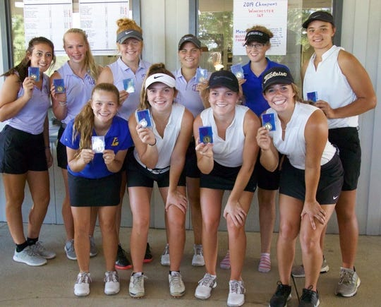 Winchester won the Tri-Eastern Conference girls golf tournament o Saturday, Sep. 14, 2019 with four golfers (Becca Chamberlain, Maddie Lawrence, Maci Chamberlain, Kate Riggin) placing. Hagerstown was second and also placed four golfers (Shay Doerstler, Stefani Burns, Morgan Rector, Sierra Searcy). Lincoln (Allison Frost) and Centerville (Erin Baker) each had a golfer place.