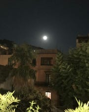 Sara James captured this view of the full moon on Sept. 13, 2019  all the way in Taormina, Italy.