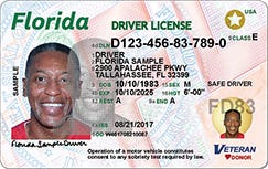 Look for the gold star on the upper right hand corner of your driver's license.