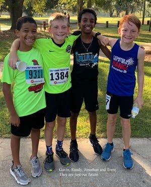Gavin, Randy, Jonathan and Trent at Saturday's race.