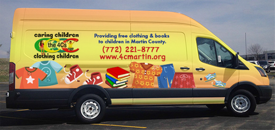 Caring Children Clothing Children hopes to buy a van similar to this one to reach more children where they live. To donate, go to www.4Cmartin.org.