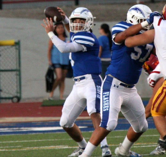 Fillmore quarterback Jared Schieferle broke the school's single-game record with 311 yards passing in the Flashes' rout of Carpinteria.