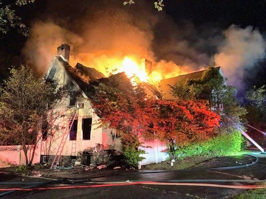 A fire tore through a home on Grandview Avenue in Rye on Sept. 14, 2019.