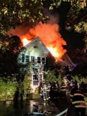 A fire damaged a house on Grandview Avenue in Rye on Sept. 14, 2019.