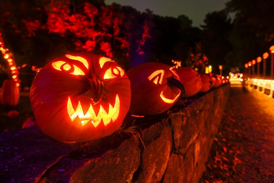 The Great Jack O'Lantern Blaze at Van Cortlandt Manor in Croton-on-Hudson features over 7,000 carved pumpkins.