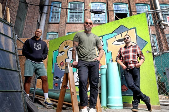 From left, Andy Galagarza, Matthew Williams and Kevin Glessing are the three partners behind Simple Motive Brewing at The Mill in Yonkers. They were photographed at The Mill Sept. 13, 2019.