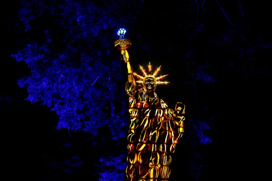 This is a view of the Great Jack O'Lantern Blaze at Van Cortlandt Manor in Croton-on-Hudson in 2017.