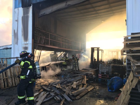 Firefighters responded to a fire at M&M Pallet Co. on Monday, according to live run logs.