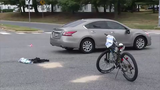 A bicyclist sustained serious injuries in a crash this weekend near New Castle.  Video provided by. John J. Jankowski Jr.  9/16/19