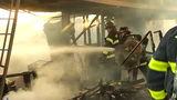 Fire crews battled a fire early Monday morning at a business on Terminal Ave.   Video provided by John J. Jankowski Jr.   9/16/19