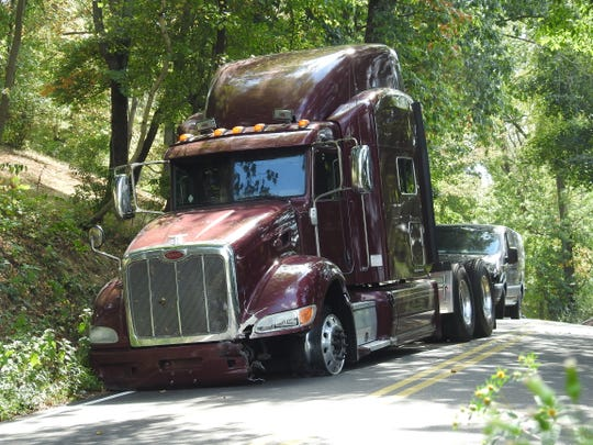 The chase of a semi without a trailer that started Monday in Delaware County ended in Coshocton County on Pleasant Valley Drive. The driver ran on foot was captured shortly before 3 p.m. nearby.