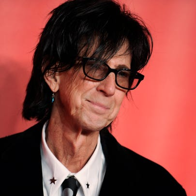 FILE - In this Feb. 6, 2015, file photo, Ric Ocasek of the Cars arrives at the MusiCares Person of the Year event at the Los Angeles Convention Center in Los Angeles. Ocasek, famed frontman for The Cars rock band, has been found dead in a New York City apartment. The New York City police department said officers responding to a 911 call found the 75-year-old Ocasek on Sunday, Sept. 15, 2019. (Photo by Richard Shotwell/Invision/AP, File) ORG XMIT: NYHK702