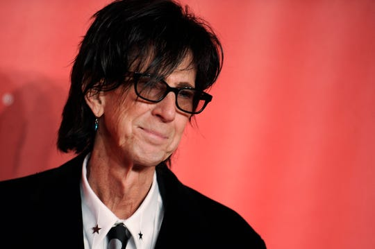 In this Feb. 6, 2015, file photo, Ric Ocasek of the Cars arrives at the MusiCares Person of the Year event at the Los Angeles Convention Center in Los Angeles. Ocasek, famed frontman for The Cars rock band, was found dead in a New York City apartment. The New York City police department said officers responding to a 911 call found the 75-year-old Ocasek on Sunday, Sept. 15, 2019.