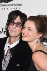 Ric Ocasek and Paulina Porizkova posed together at a gala in 2016.