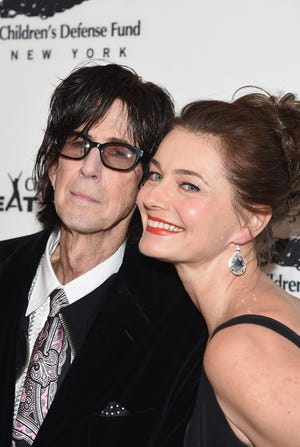 Ric Ocasek and Paulina Porizkova attend the Children's Defense Fund-New York Beat the Odds Gala at the Pierre Hotel on Feb. 29, 2016, in New York.