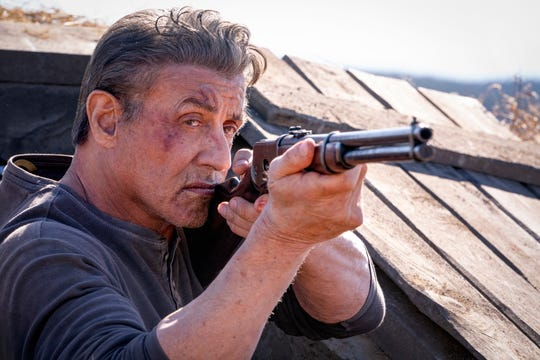 """Sly Stallone, minus the red headband, is shooting again in """"Rambo: Last Blood."""""""