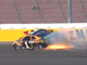 Sept. 15: Kurt Busch (1) blows a tire and plows into the wall at Las Vegas Motor Speedway during the first race of the 2019 playoffs.