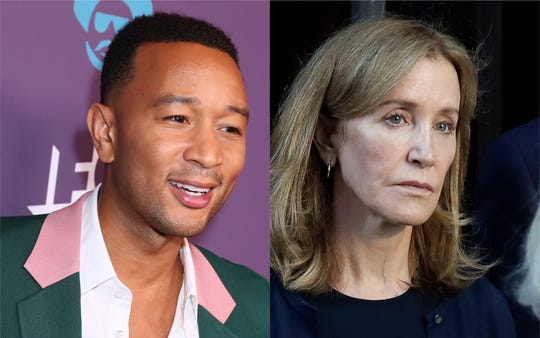 John Legend and Felicity Huffman