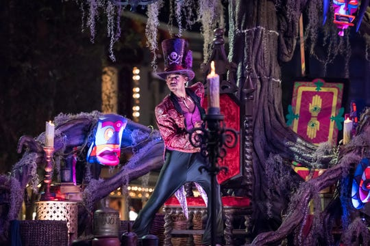 The Frightfully Fun Parade is part of Oogie Boogie Bash at Disney California Adventure.