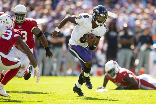 Ravens quarterback Lamar Jackson was a major rushing threat in Week 2 with 120 yards on 16 carries.