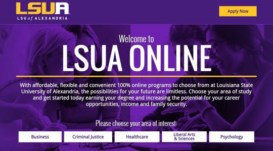 Online students are making up a greater portion of LSU of Alexandria's enrollment.