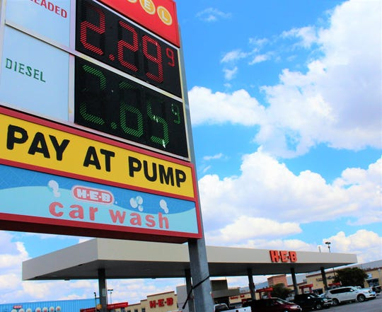 Pumps were busy Tuesday at H-E-B, where the price of unleaded held at $2.29 while rising at other stations across Abilene.