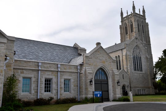 Gerhart Hall at Episcopal Church of the Heavenly Rest. The addition was completed in 2017 but designed to seamlessly blend with the older church's architecture.