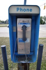 A pay phone outside the Marathon Gas Station on East Michigan Ave. in Battle Creek hasn't had a dial tone for at least five years.