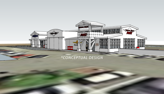 A conceptual rendering of the Port of Bremerton's rebuilt Airport Diner building. The diner's owners announced it would be closing at the end of 2019.