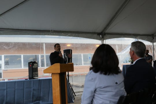 Michael Watson, director of the Northwest Family Medicine Residency Program, speaks at the groundbreaking of CHI Franciscan's Bremerton clinic. The residency program will be housed in the clinic.