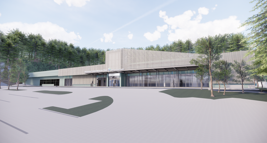 A rendering of Harrison's new Bremerton clinic along Kitsap Way. CHI Franciscan broke ground on the clinic on Monday. It is expected to open in May 2020.