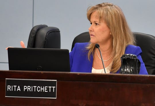"""Brevard County Commissioner Rita Pritchett saidshe has no qualms about the limited financial information she is getting on Ivey's budget. She said she """"thought it was a pretty frugal budget,"""" noting that both the Brevard County Sheriff's Office's spending per resident and the starting pay of deputies are below that of many nearby counties."""