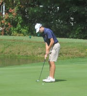 Galion's Matt McMullen sinks a putt on the 2nd green at Westbrook Country Club.