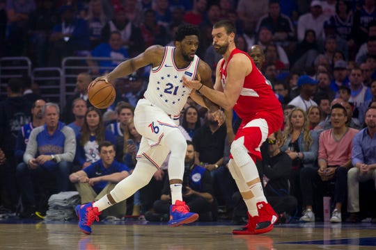 Joel Embiid and the Sixers are looking to go much further than they did last year, when they lost a second-round playoff series to the Toronto Raptors in seven games.