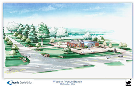 A proposed design for the Western Avenue branch of the Atomic Credit Union has raised some concerns for 1st Ward community members as they feel it will increase traffic and cause safety concerns.
