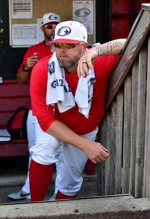 Dennis Pelfrey, shown here managing the Florence Freedom of the Frontier League, has been named the manager of the Eugene Emeralds for the 2021 season.