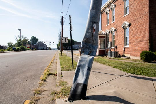 The cost to replace this utility pole was $1.3 million, which has been contested by city officials.