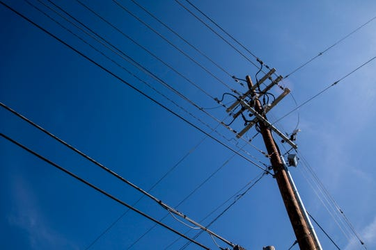 Lawrenceburg's city-owned utility company erected this new electric pole in July and billed the city $1.3 million. So far, the city is refusing to pay.
