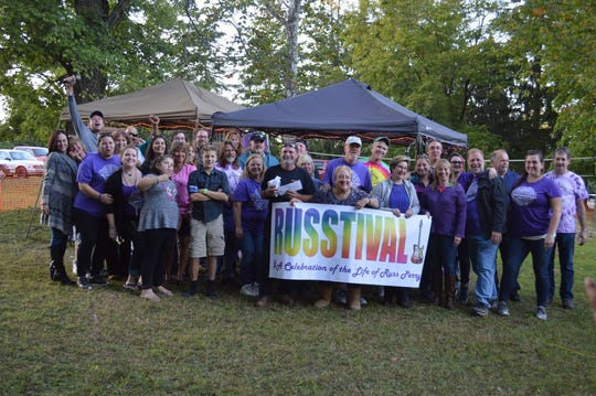 Organizers and volunteers at last year's Russtival fest, which has raised $78,000 for Pancreatic Cancer Action Network and $12,000 for the Russ Perry Memorial Scholarship for the Arts during the past 10 years. Russtival XI will take place Sept. 21 and 22 at Clinton Elks in Pittstown.