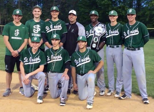 Joe Weaver, back row on the right, and his 2016 senior classmates on the St. Joseph High School baseball team