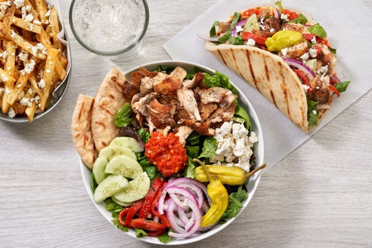 The Simple Greek offers build-your-own style Greek pitas and bowls, as well as a variety of Mediterranean sides and deserts.