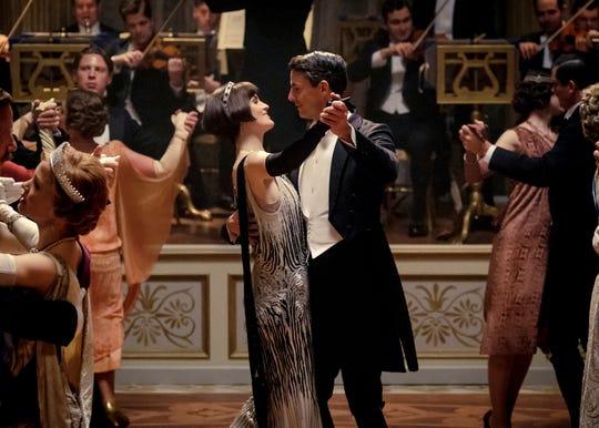 "Michelle Dockery and Matthew Goode in ""Downton Abbey."""