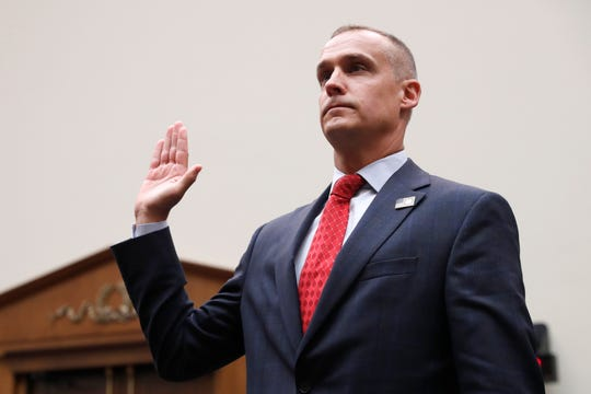 Corey Lewandowski, the former campaign manager for President Donald Trump, is sworn in to testify to the House Judiciary Committee Tuesday, Sept. 17, 2019, in Washington.