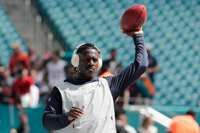 New England Patriots wide receiver Antonio Brown