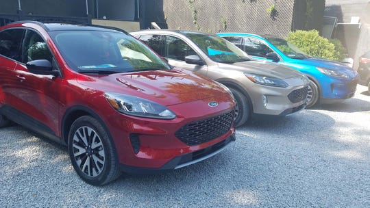 Skittle row. The 2020 Ford Escape comes in a variety of flavors.