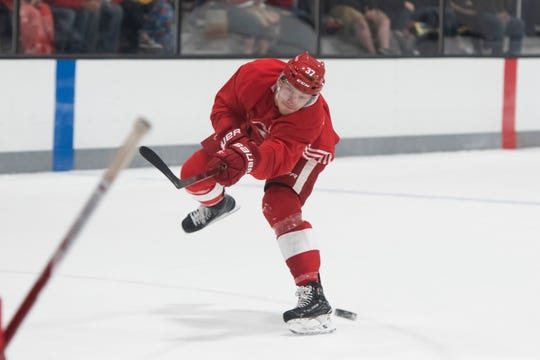 Red Wings forward Evgeny Svechnikov missed all of last season with a knee injury.
