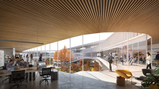 A rendering of the new research and development campus at Ford Motor Company.