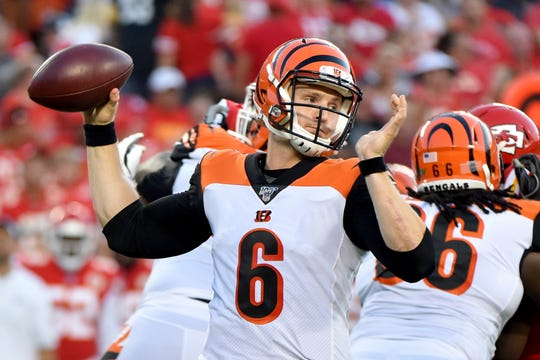 The Lions signed quarterback Jeff Driskel (6) on Tuesday to back up Matthew Stafford.