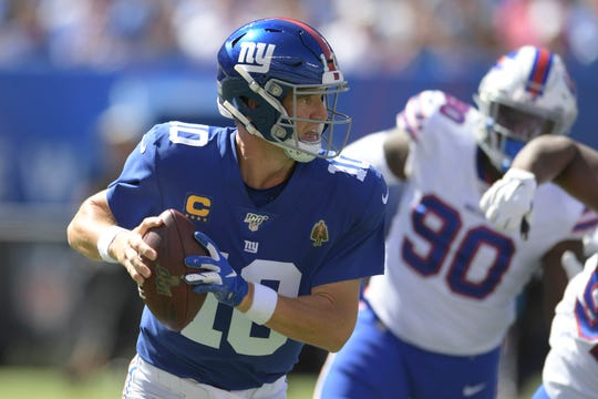 New York Giants quarterback Eli Manning will be replaced in the starting lineup by rookie Daniel Jones.