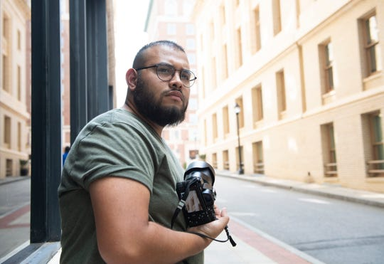 Rony Rivera downtown in Greenville Tuesday, Sept. 17, 2019.